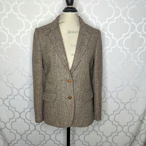 Vtg Harve Bernard Tweed Blazer Coat